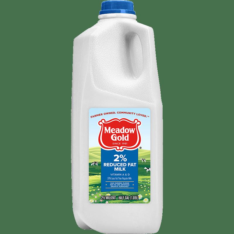 2% Reduced-Fat Milk Plastic Half Gallon