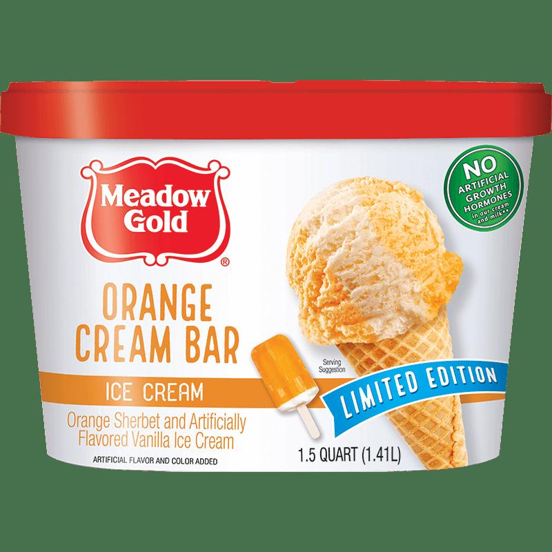 Orange Dream Bar Ice Cream 1.5 Quart