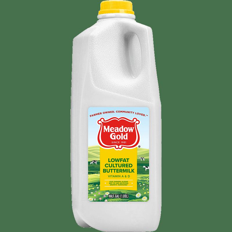 1% Lowfat Cultured Buttermilk Plastic Half Gallon