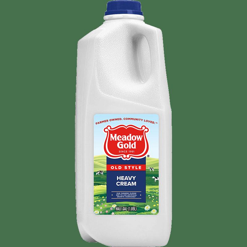 Old Style Heavy Cream Plastic Half Gallon
