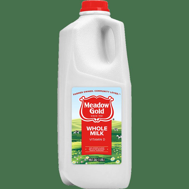 Whole Milk Plastic Half Gallon